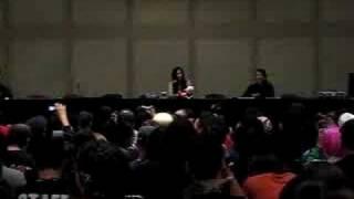 Rie Tanaka panel at NY Anime Festival singing Shizuka na Yoru ni
