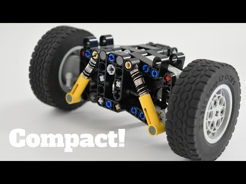 Custom Tires For A Simple Lego Technic Front Axle Steering Geometry