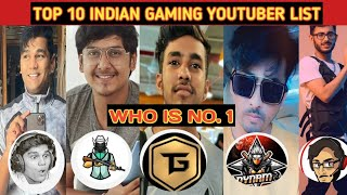 TOP 10 INDIAN GAMER LIST, TECHNO GAMERZ, DYNAMO, MORTAL, TOTAL GAMING, CARRYISLIVE, SHOCKING LIST ||