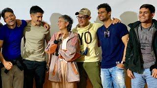 Aamir khan , Kiran Rao and Naga Chaitanya in the Screening of the film ULTIMATE PRESENT.