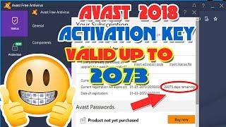 license key for avast antivirus 2018