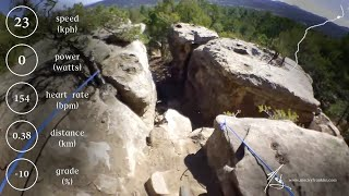 POV footage from pro rider Macky Franklin shredding Jagged Axe trail at Glorieta.