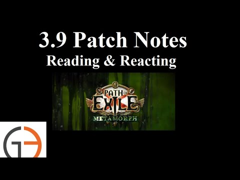 [3.9] Patch Notes - Reading & Reaction with G3 Iron