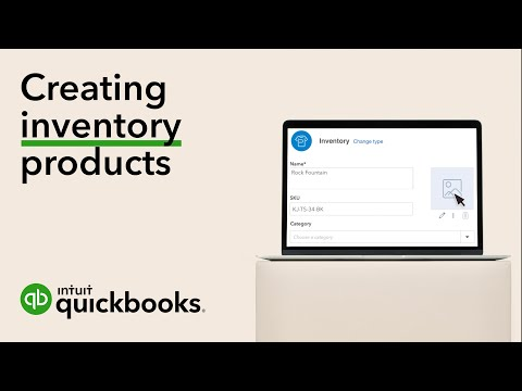 How to create inventory products in QuickBooks Online