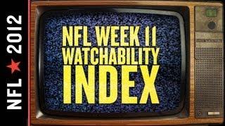 NFL Week 11 Watchability Index thumbnail