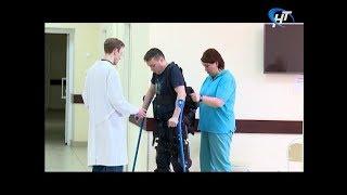 Пациенты Центра медицинской реабилитации примерили экзоскелет