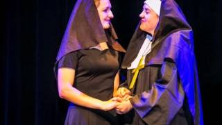 "Morgan  as Mother Abbess in Sound of Music singing ""Climb Every Mountain"""
