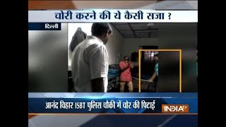 Watch: Delhi sub-inspector thrashing man accused of theft goes viral, investigations ordered