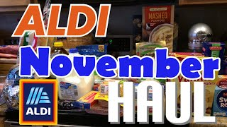 Aldi Grocery Haul $200 November for a family of 4!