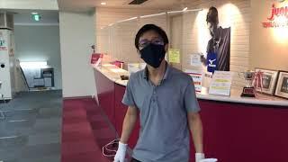 ジュンレオフロントスタッフのレッスン中ルーティン⑤2階消毒