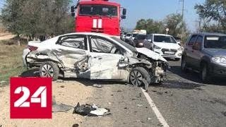 В Дагестане столкнулись пять машин. Пострадали 18 человек - Россия 24