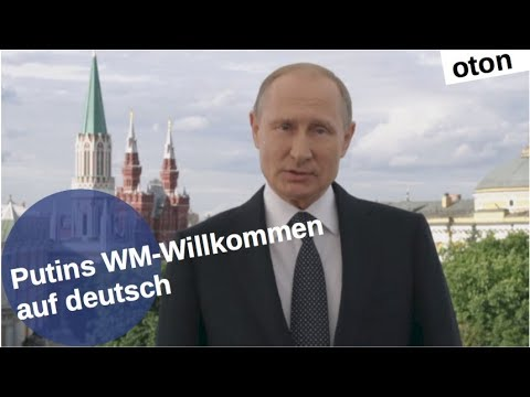 Putins WM-Willkommen auf deutsch [Video]