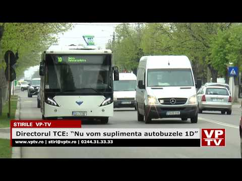 """Directorul TCE: """"Nu vom suplimenta autobuzele 1D"""""""