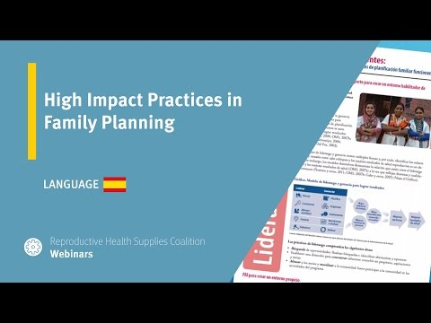 High Impact Practices in Family Planning