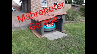 Robuste DIY Garage für Mähroboter Gardena R70LI