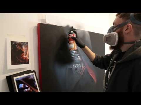 Star Wars: The Force Awakens - Kylo Ren Graffiti Painting