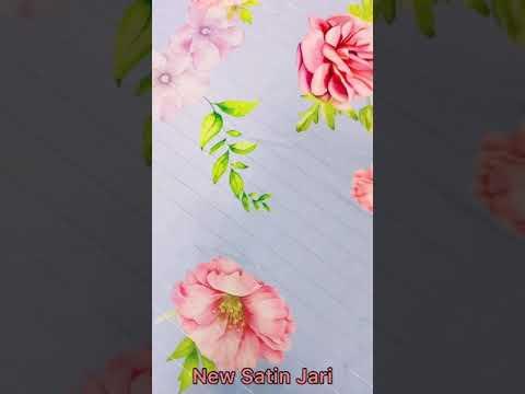 New Satin Jari Digital Printed Fabric