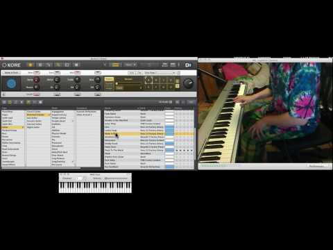 Learn how to shred guitar on piano keyboard