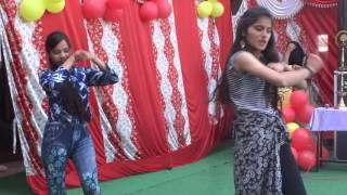 farewell Party Dance in Jimp Pioneer School by Pooja & Shivani Bhatt