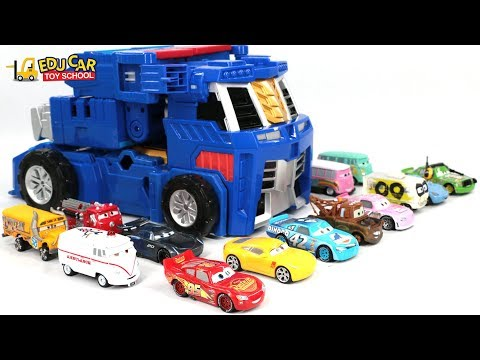 Learning Color Special Disney Pixar Cars Lightning McQueen Transforming Robot For Kids Car Toys