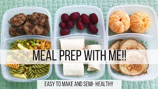 MEAL PREP WITH ME 2017 // EASY AND HEALTHY // MOM OF 3 //SAHM