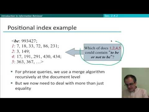 18 5 phrase queries and positional indexes stanford nlp