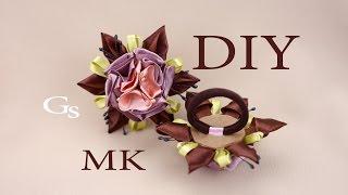 Канзаши букет в одном цветке. Новый МК / Kanzashi bouquet in a single flower. New MK