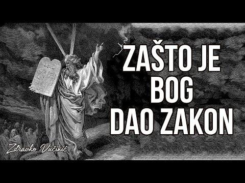 Zdravko Vučinić: Zašto je Bog dao zakon