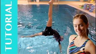 Artistic Swimming Tutorial: #1- Ballet leg backflip