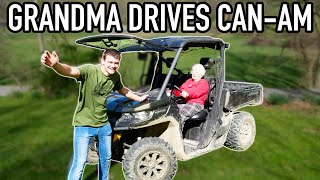 I LET MY GRANDMA DRIVE MY CAN-AM!