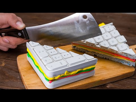 Keyboard Sandwich / Crazy Stop Motion Cooking & ASMR