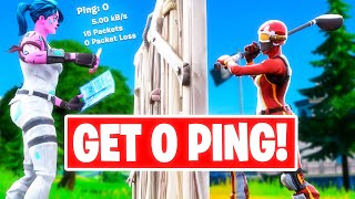 How To Get 0 Ping in Fortnite! - Get Lower Ping on Fortnite FAST! - PC, Console & Mobile Tips