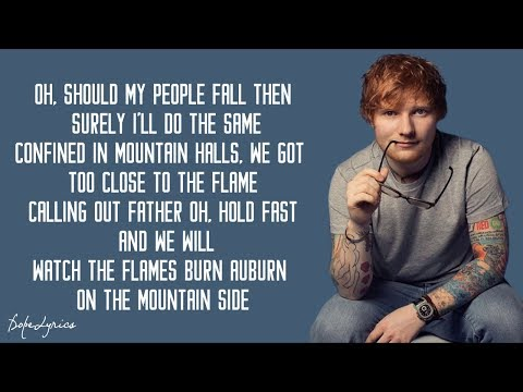 Ed Sheeran - I See Fire (Lyrics)