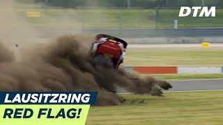 René Rast goes over - Red Flag! - DTM Lausitzring 2018