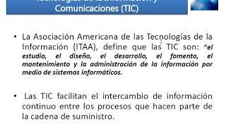 TIC en la cadena de suministro