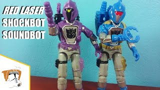 Black Major/Red Laser SOUNDBOT & SHOCKBOT (GI Joe/Transformers)