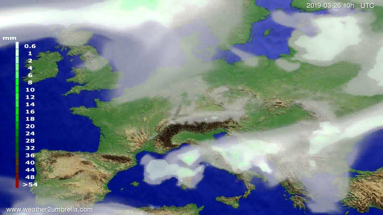 #Weather_Forecast// Precipitation forecast Europe 2019-03-24