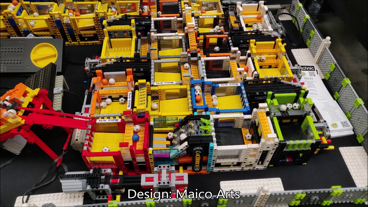 LEGO Great Ball Contraption at Techniekdag Oss 2019 GBC