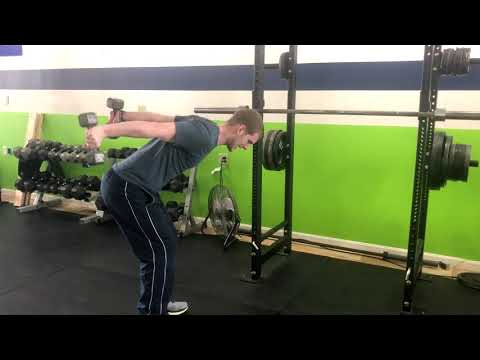 DB Bent Over Row to Triceps Kickback