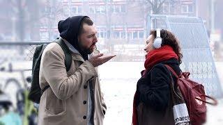 Blowing People Kisses In Amsterdam