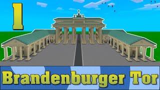 Minecraft Brandenburger Tor Bauvorlage #001