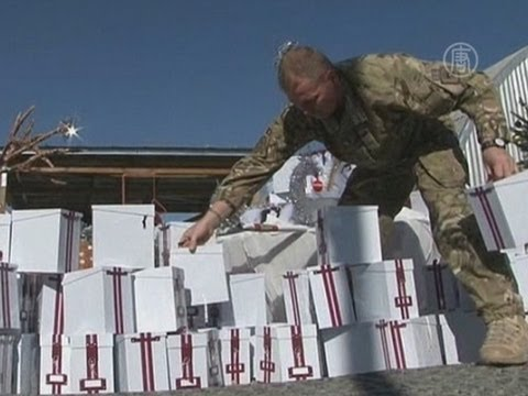 Британские войска в Афганистане отмечают Рождество