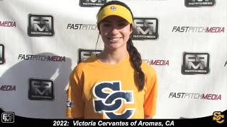 2022 Victoria Cervantes Speedy Shortstop and Outfield Softball Skills Video - Suncats Jimenez