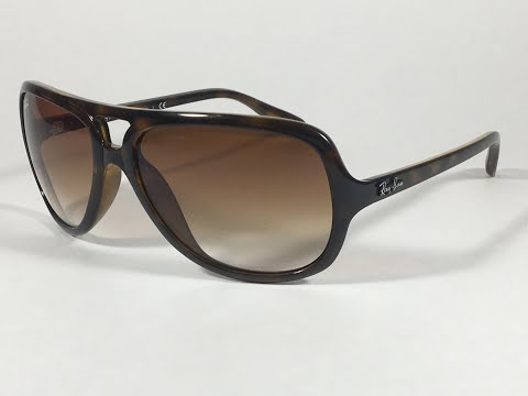 5a0297b751 Ray-Ban Turbo Aviator Sunglasses Brown Nylon Frame Brown Gradient Lens  RB4162 710 51 - YouTube