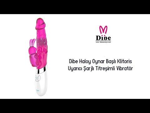 Dibe Haloy Oynar Başlı&Klitoris Uyarıcı Şarjlı Titreşimli Vibratör