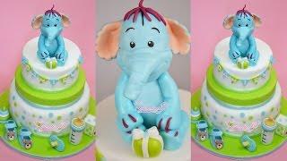 Baby Shower - Baptism Cake Fondant - Torta Battesimo In Pasta Di Zucchero