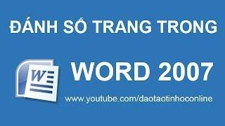 Hướng Dẫn Cách đánh Số Trang Trong Word 2007