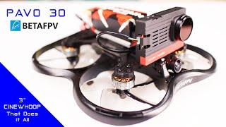 BETAFPV PAVO 30 is a fun FPV Pusher Cinewhoop Drone