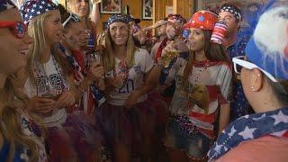 Katie Nolan Pregames With The American Outlaws