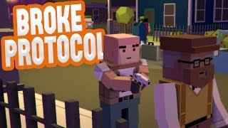 Broke Protocol - THIS WHOLE CITY IS CRAZY! - GTA Gone Blocky - Broke Protocol Gameplay Highlights